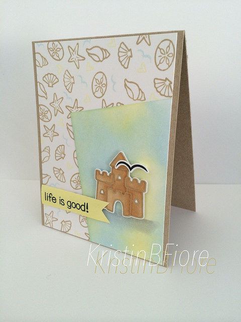 Lawn Fawn - Life is Good Stamps and Lawn Cuts, Simon Says Stamp and Hero Arts Inks, and Tim Holtz Mini Blending Tool