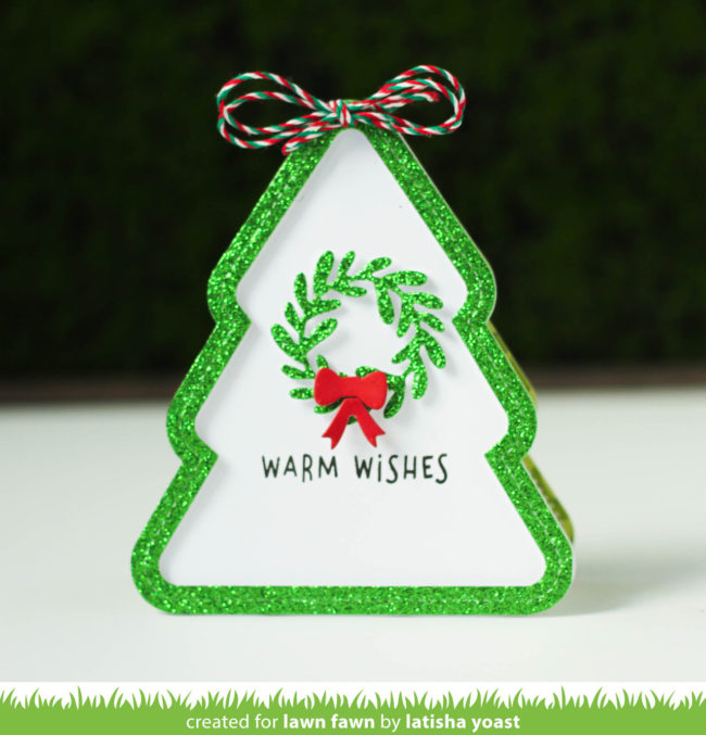 Lawn Fawn Intro Outside In Stitched Christmas Tree Stackables
