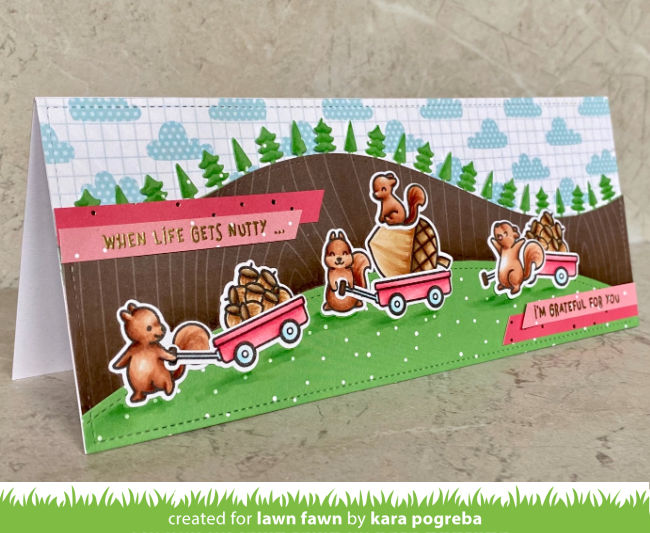 Lawn Fawn Intro: Let's Go Nuts, Big Acorn, Lift the Flap Tree Backdrop - Lawn  Fawn